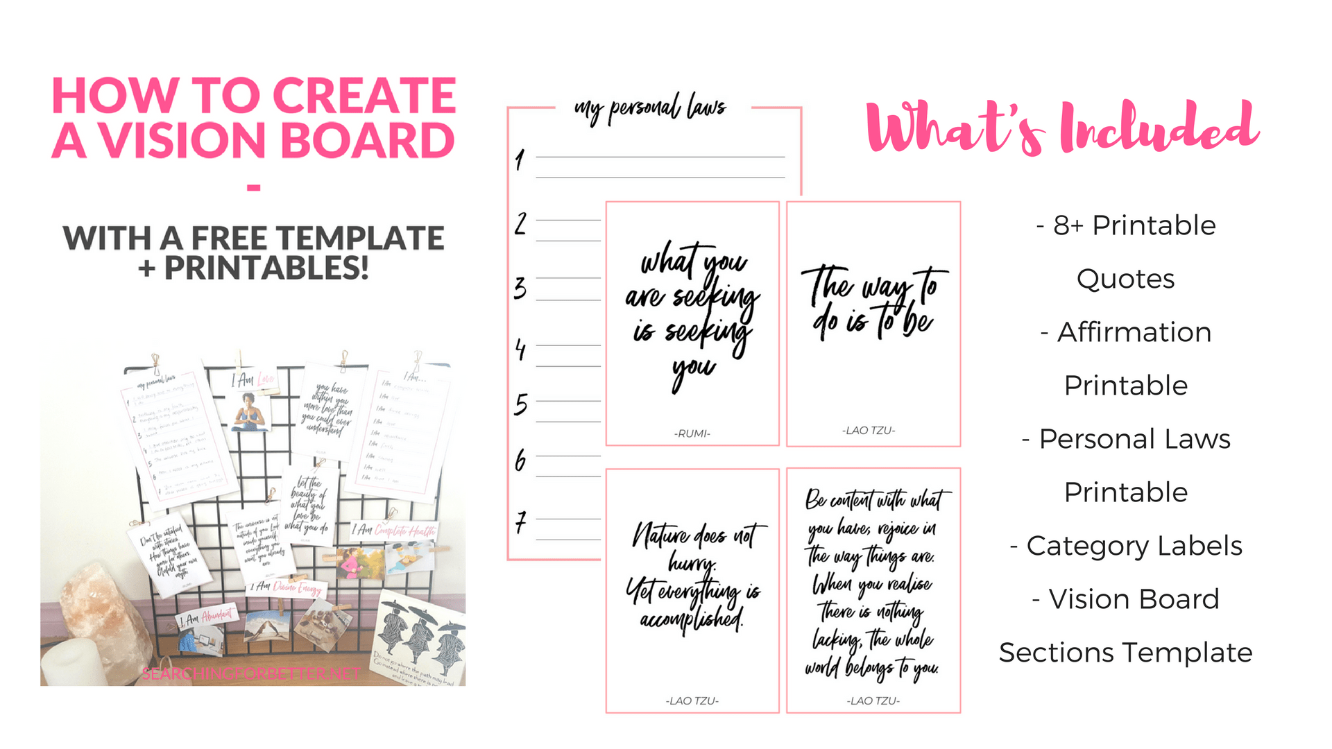 Creating A Vision Board With Free Vision Board