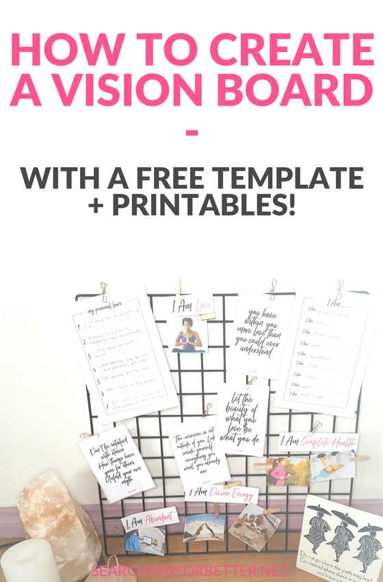 Wild image inside printable vision board template
