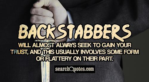 About Friends And Backstabbers Quotes Fake