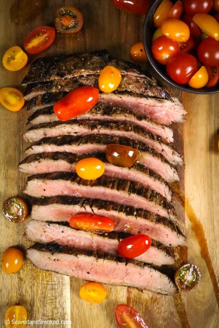 garlic herb marinated flank steak