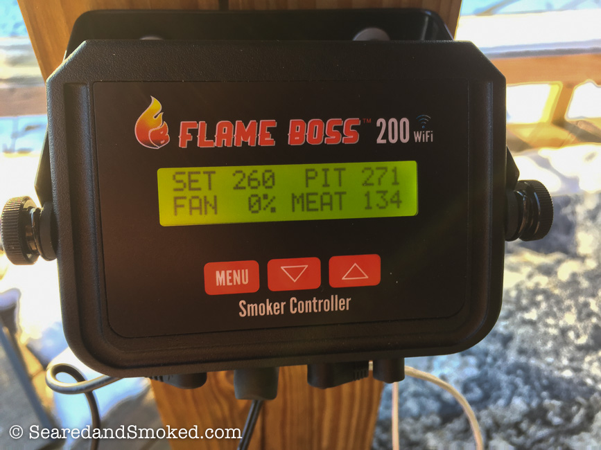 Flame Boss 200 Wifi default display