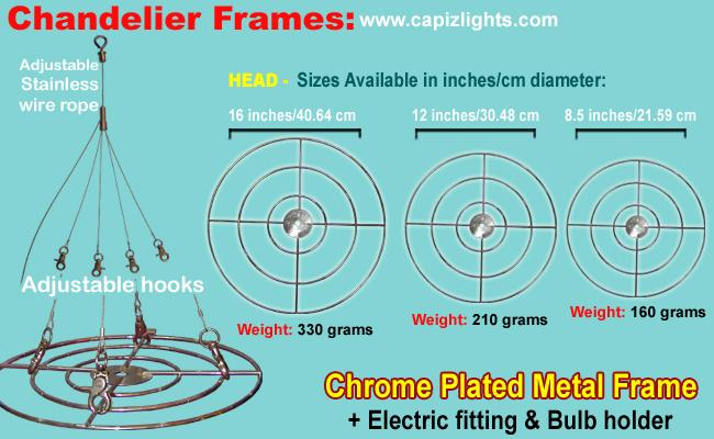 Chrome Plated Metal Frame Details