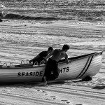 Seaside Heights lifeguards with rowboat