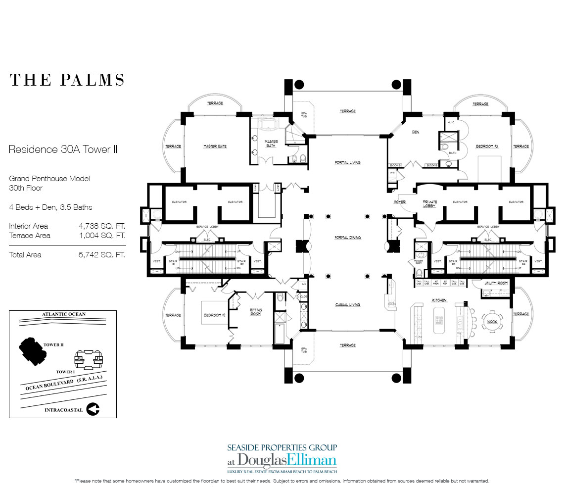 Grand Penthouse 30a Tower Ii For Sale At The Palms