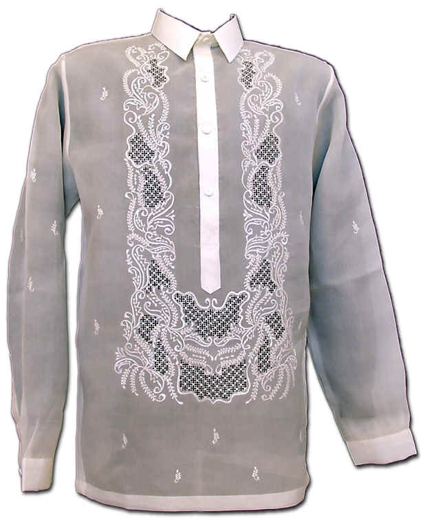 a picture of the traditional Filipino dress shirt
