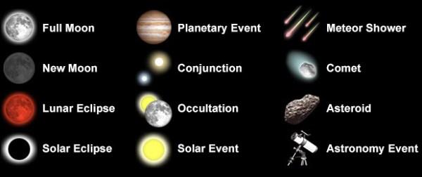 Astronomy Calendar of Celestial Events 2013 Sea and Sky