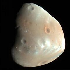 Deimos, moon of Mars - The Solar System on Sea and Sky