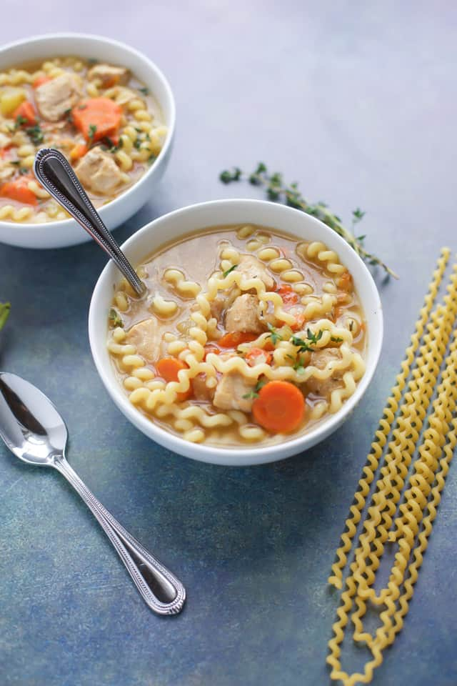 Instant Pot Chicken Soup with a spoon