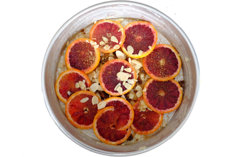 Blood orange Cake with Honey Syrup | seasonalmuse.com