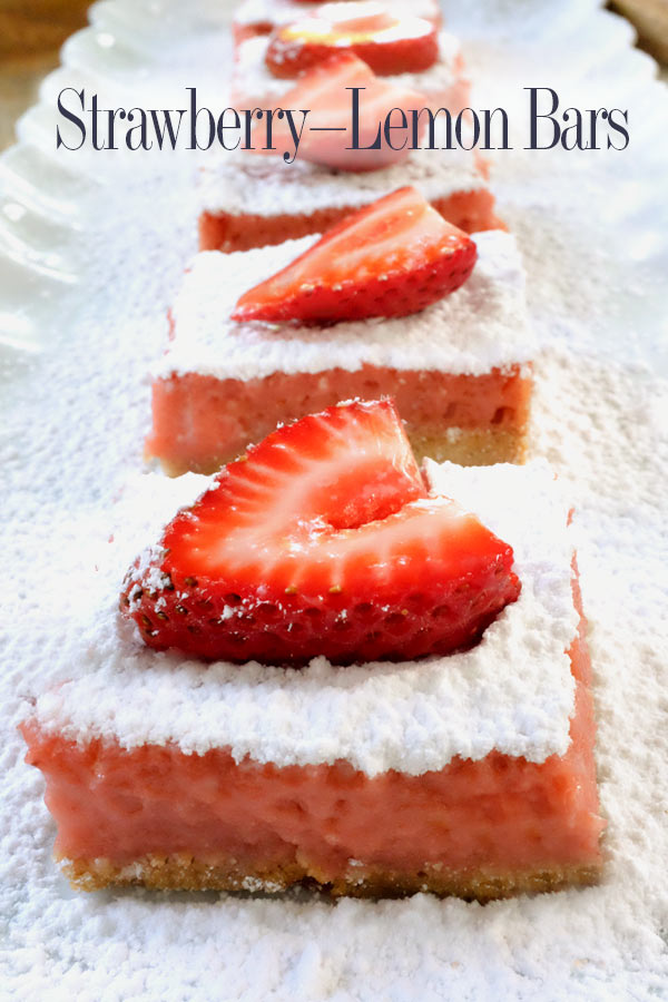 Sweet and tangy fresh strawberry lemon bars. Pretty in pink, these bars are a sublime twist on the classic. Perfect for a summer barbecue | seasonalmuse.com