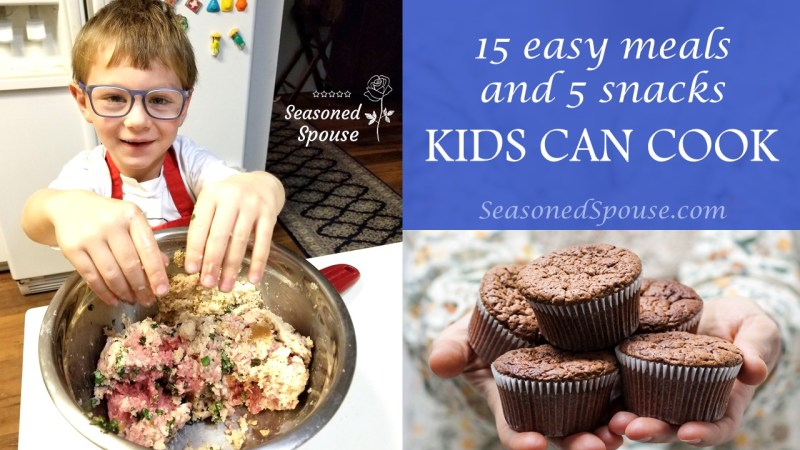 Here are 15 easy meals and 5 snacks that your kids can cook.