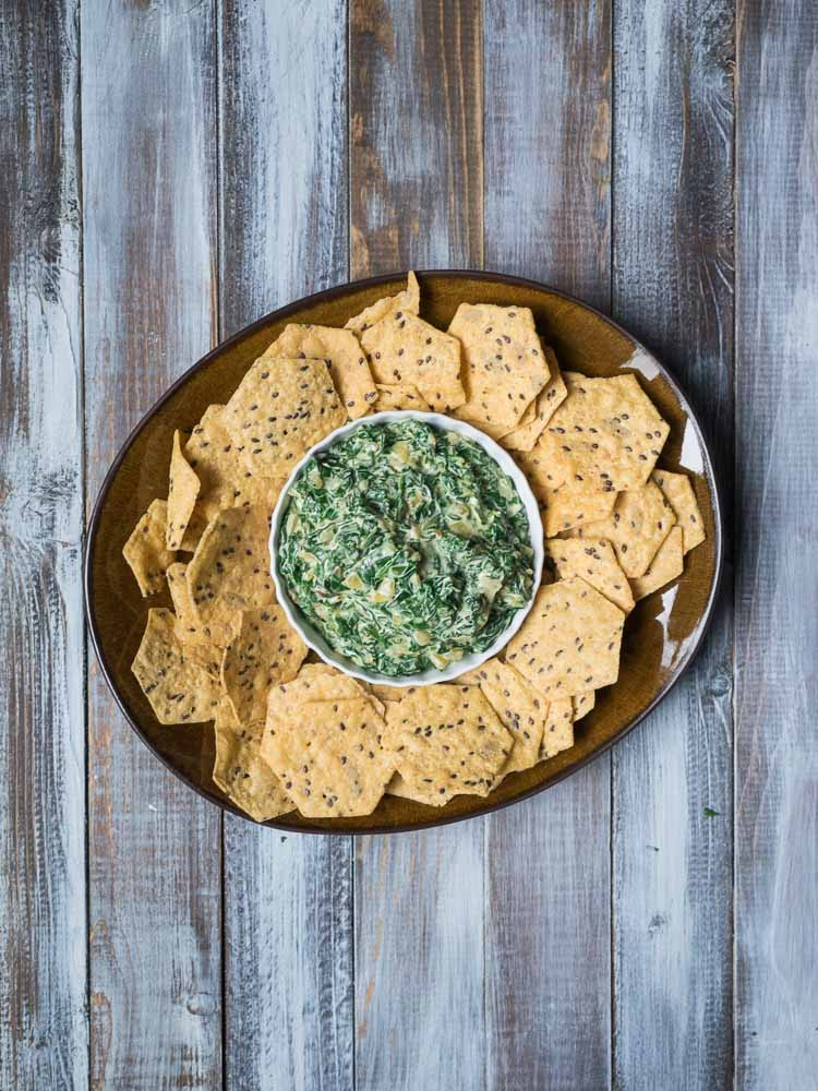 Easy Warm Spinach Dip with Chard   An easy spinach dip with swiss chard and cream cheese. Ready in 30 minutes and perfect for a party!