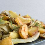 Pecorino Roasted Potatoes | This pecorino roasted potatoes and fennel recipe is an easy side dish. Bright lemon zest, crispy potatoes, and salty pecorino cheese complement any holiday meal. | SeasonedVegetable.com