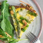 Gluten Free Asparagus Tart   This gluten free asparagus tart has a crispy potato crust and is topped with gooey fontina cheese and savory roasted garlic. Perfect for weekend brunch!   SeasonedVegetable.com