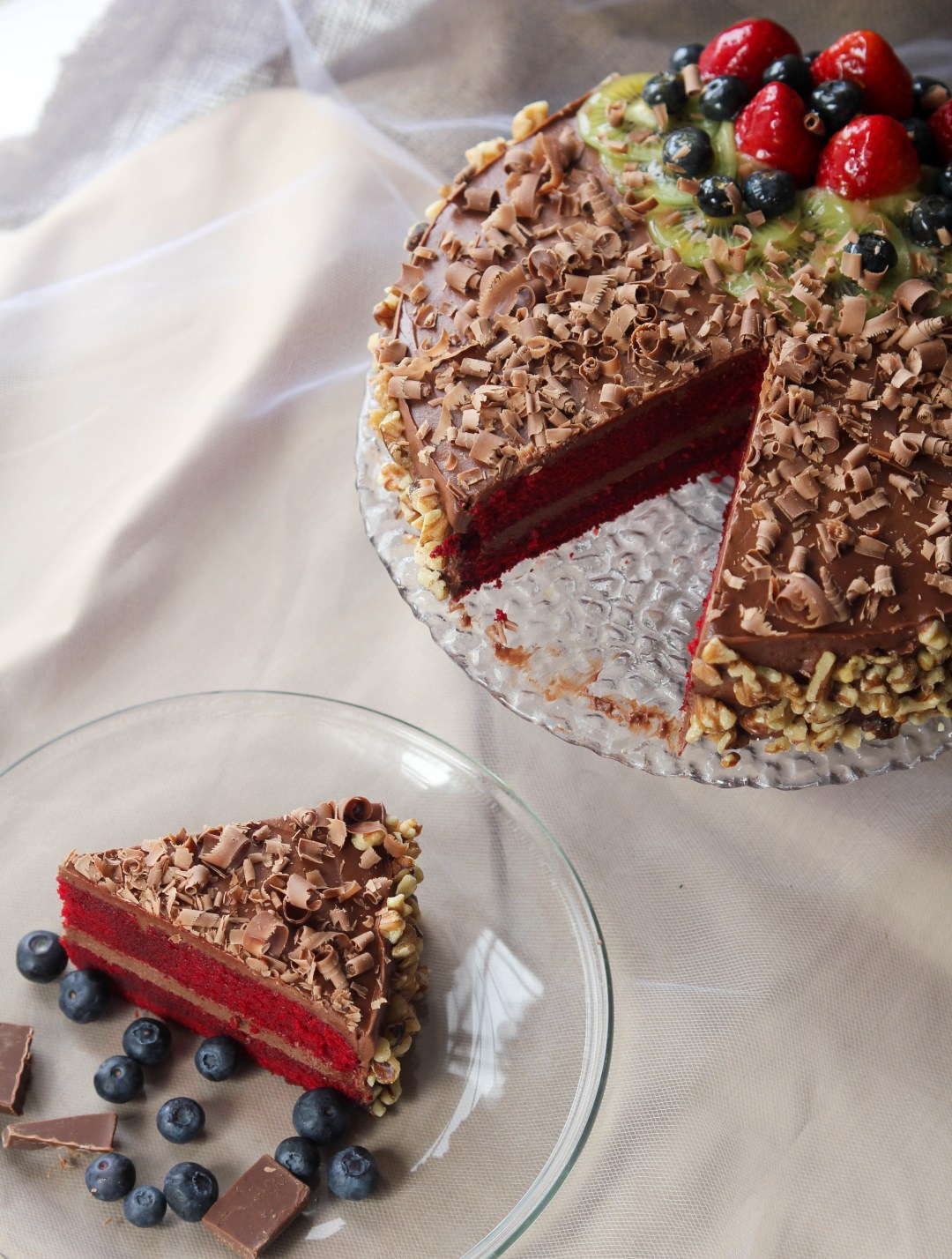 Red Velvet Cake with Chocolate Cream Cheese Frosting   The ...
