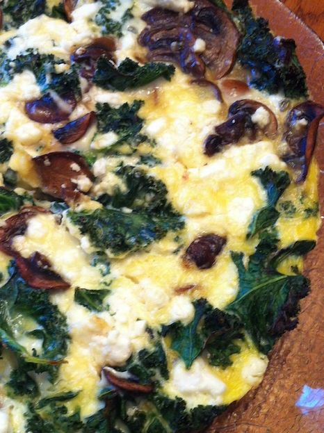 Kale and Feta Frittata with Mushrooms (A Seat at the Table)