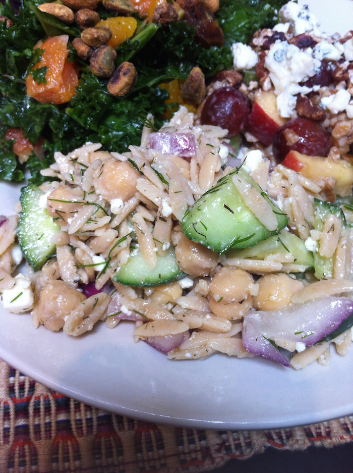 Lemony Orzo, Feta, and Chickpea Salad (A Seat at the Table)