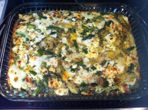 Artichoke and Asparagus Egg Casserole (A Seat at the Table)
