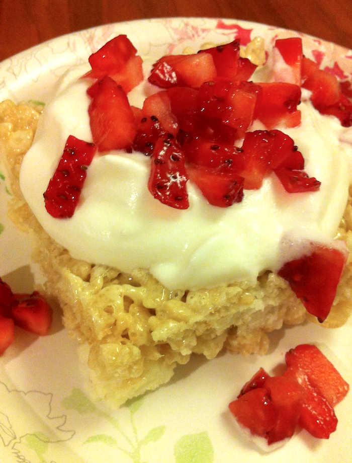 Strawberry Shortcake Rice Krispie Treats (A Seat at the Table)