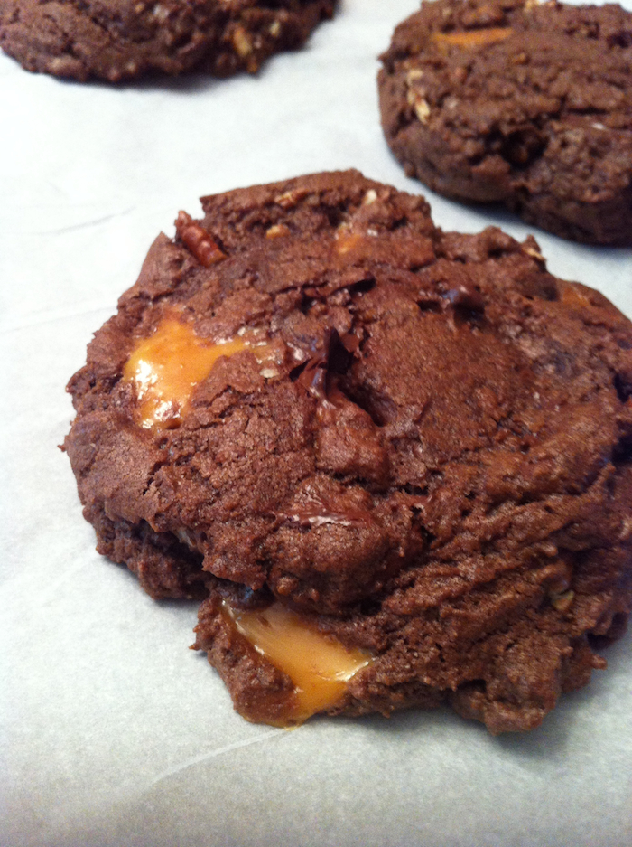 Chocolate Turtle Cookies (A Seat at the Table)