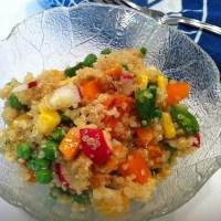 Confetti Quinoa Salad with Cumin-Lime Vinaigrette