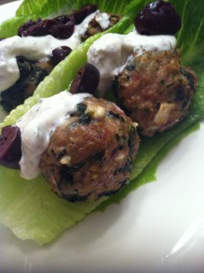 Spanakopita Turkey Meatball (A Seat at the Table)