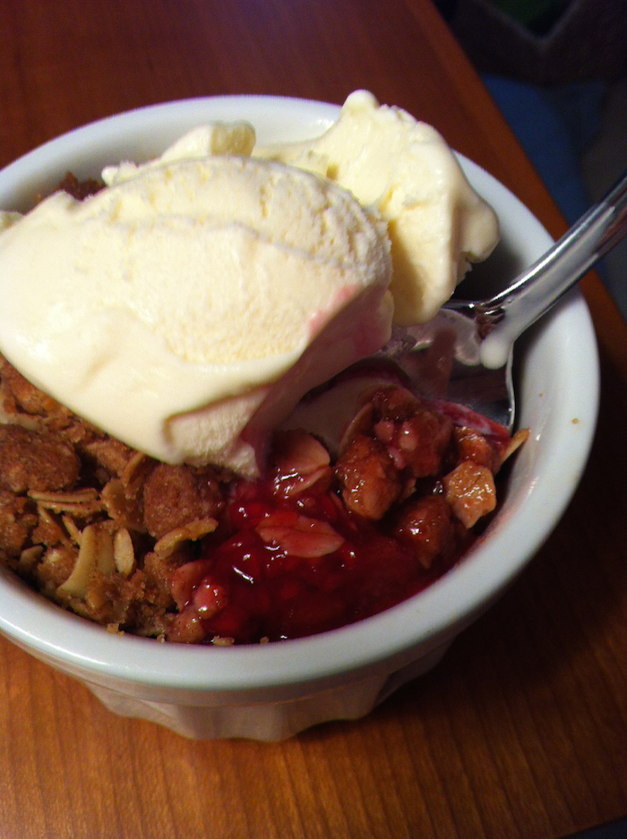 Rhubarb Berry Crisp (A Seat at the Table)