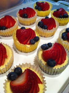 Red White and Blue Cheesecake Cupcakes (A Seat at the Table)