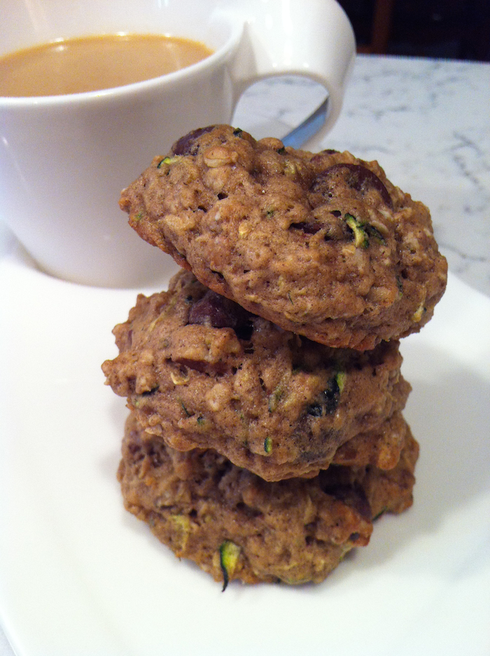 Zucchini Chocolate Chip Oatmeal Cookies (A Seat at the Table)