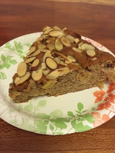 Swedish Apple Almond Cake slice (A Seat at the Table)