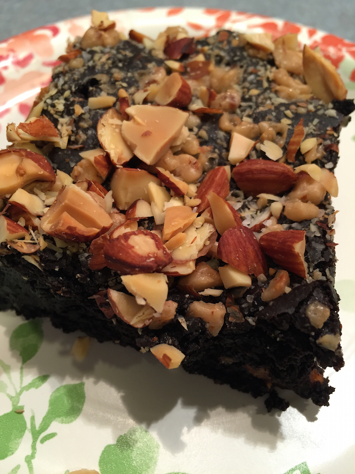 Toffee Almond Sea Salt Brownies (A Seat at the Table)