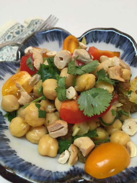 Curried Chickpea Salad serving (A Seat at the Table)