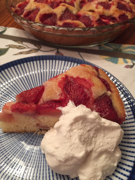 Strawberry Summer Cake with whipped cream (A Seat at the Table)