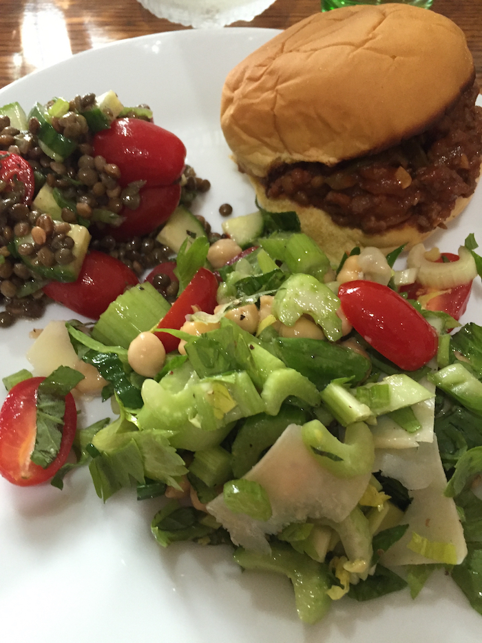 Sloppy Joes with Celery Slaw (A Seat at the Table)