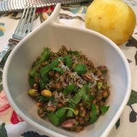 Asparagus Wheat Berry Salad with Pistachio Pesto