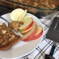Peanut Butter Apple Baked Oatmeal