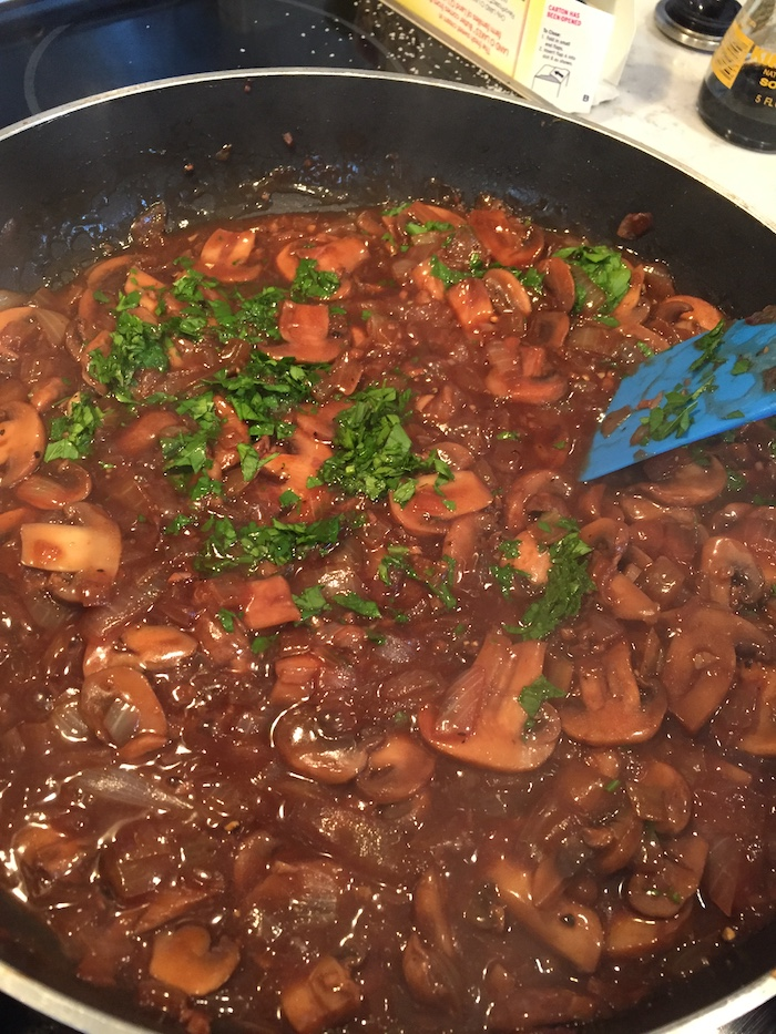 Mushroom  Gravy in pan (A Seat at the Table)