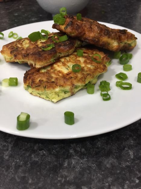 Zucchini Feta Fritters (A Seat at the Table)