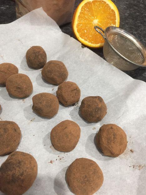 Chocolate Date Truffles with orange (A Seat at the Table)