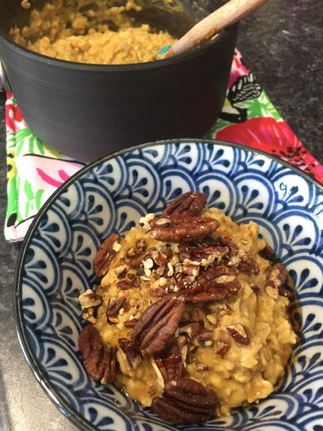 Pumpkin Oatmeal with Pecans (A Seat at the Table)