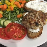Greek Turkey Burgers with Tzatziki