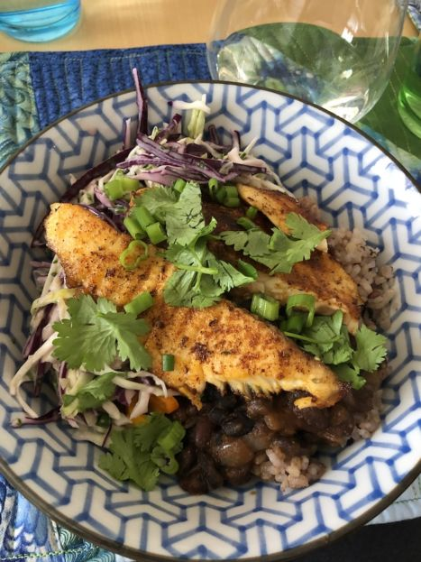 Blackened Tilapia with Cilantro Cabbage Slaw (A Seat at the Table)