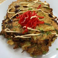 Okonomiyaki - Vegetable Pancakes