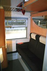 1- 2- or 3- berth sleeper on Italian overnight train - daytime mode