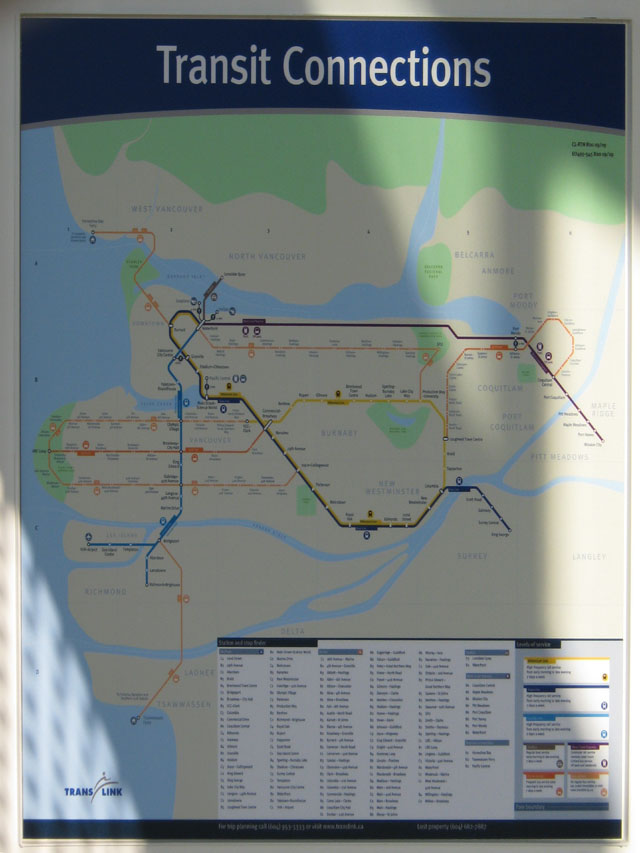 New Transit Connections map (courtesy of Tafryn Palecloud of Canada Line Photography Blog)
