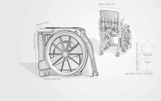 Dimensões Wheelable