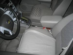 concealed holster across seat
