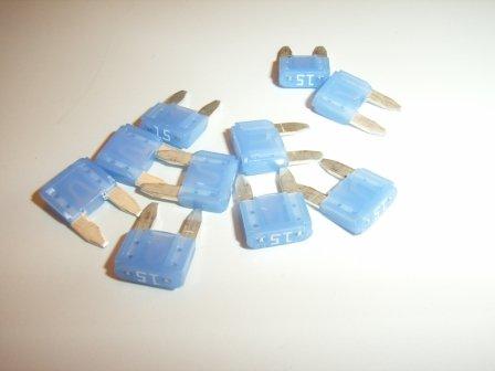 Fuse 15AF, ATO Blade MINI, Blue
