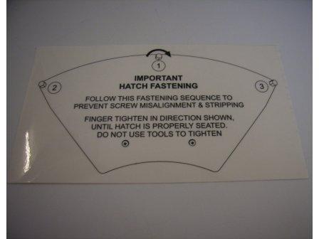 Kit Label f. Radome hatch/F77-33