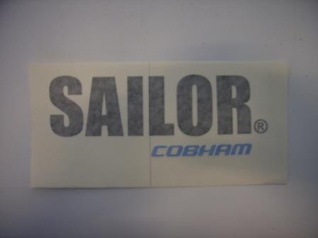 Label for SAILOR 150/250, SAILOR-Cobham Logo